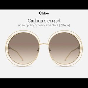 Chloe Carlina rose gold shaded brown sunglasses